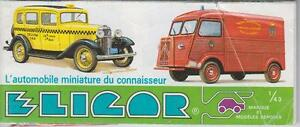 ELIGOR DIE-CAST MODEL VEHICLES PRODUCT RANGE FOLD-OUT CATALOGUE ( FRENCH TEXT )