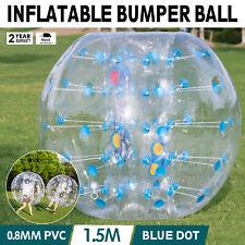 1.5 M Bola Inflable Parachoques Zorb Ball Punto Azul Burbuja Fútbol Casa Jardín Parque