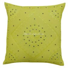 Traditional Cotton Cushions Covers   cm Embroidery Mirror Pillow Covers