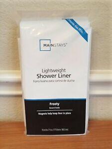 Mainstays Lightweight Shower Curtain Liner Frosty White 100% PEVA New