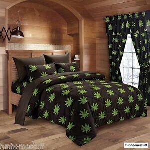 6 PIECE 420 HERB BUD POT WEED LEAF MICROFIBER BED SHEETS SUPER SOFT SHEET SET