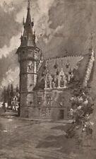 TERMONDE (DENDERMONDE) . The Museum. Belgium 1916 old antique print picture