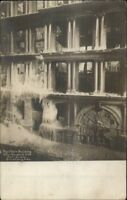 New York City Fire Disaster Equitable Building on Broadway c1910 RPPC Postcard