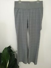 Liz Lang Maternity Work Business Clothes Pants Full Coverage Panel Size 6 Plaids