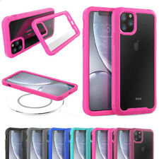 For iPhone 11 Pro Max Shockproof Rubber Bumper Slim Clear Hybrid Hard Case Cover