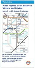 LONDON TRANSPORT UNDERGROUND Map folded leaflet 2000 VICTORIA LINE bus replace