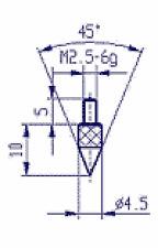 62010  Messeinsatz Spitze 45° 573/13