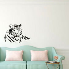 Male Tiger Wall Decal Animal Vinyl Removable Wall Sticker Art Mural Home Decor