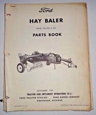 Ford Series 506 (350) 540 Hay Baler Parts Catalog Manual Original