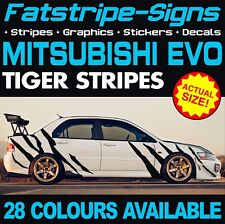 MITSUBISHI EVO GRAPHICS TIGER STRIPES DECALS STICKERS IV V VI VII VII VIII IX X