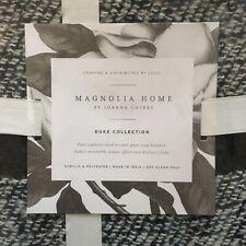 Magnolia Home Duke Throw Blanket White Navy Stripes 50x60