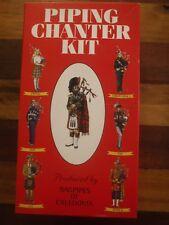Scottish Bagpipe Piping Chanter Kit   Bagpipes of Caledonia NIB