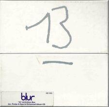 BLUR - 13 1999 EU ENHANCED LIMITED EDITION NUMBERED CD ALBUM BOX SET W/ POSTER