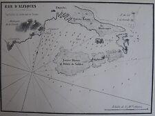 BAIE D'ALFAQUES ,1862, GAUTTIER, PLANS PORTS RADES MER MEDITERRANEE