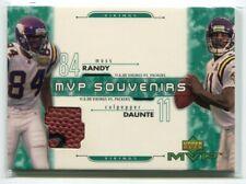2001 Upper Deck MVP Souvenirs CM Daunte Culpepper Randy Moss 11/6/2000 Used Ball