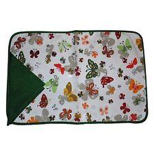 SET COLAZIONE tovaglia cotone + 1 tovagliolo farfalle verde 2 pezzi
