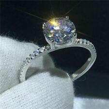 2.55 Ct Round Forever Moissanite Brilliant Engagement Ring Solid 14K White Gold