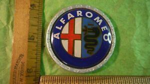 AV93 Alfa Romeo Hood Nose Emblem Vintage 1970-80s ALFELTTA MILANO SPIDER 55mm
