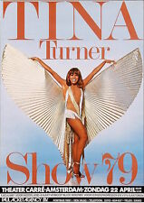 TINA TURNER AMSTERDAM 1979 Dutch A1 concert poster RARE NM rolled