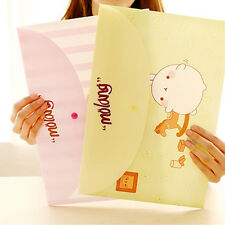 2x Cute Cartoon Animal Plush Pencil Pen Pocket Makeup Cosmetic Zipper Bag Case