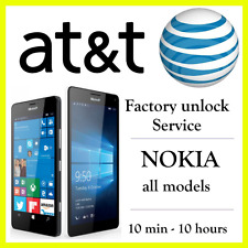 AT&T UNLOCK CODE SERVICE NOKIA LUMIA 520 521 635 820 830 900 920 1520 2520 ATT
