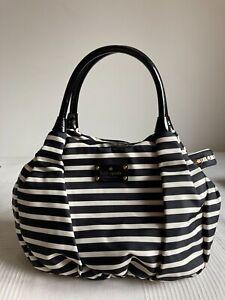 kate spade Handtasche - schwarz/weiss gestreift, fast neu!
