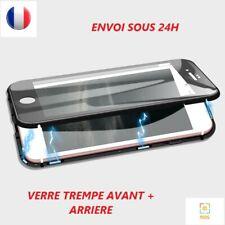 COQUE MAGNÉTIQUE INTÉGRAL 360 POUR IPHONE 6/6S/6S+/7/7+/8/8+/X VERRE TREMPE