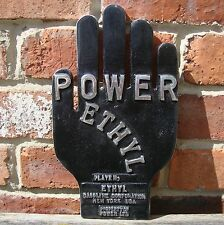 Power Ethyl Hand Sign petrol oil garage sign advertising sign black pol VAC 013