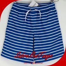 NWT HANNA ANDERSSON SUNBLOCK UPF 50+ SWIM TRUNKS SHORTS BALTIC BLUE WHITE 130 8