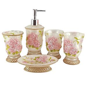 LUANT Vintage Bathroom Accessories, 5Piece Bathroom Accessories Set, Bathroom &