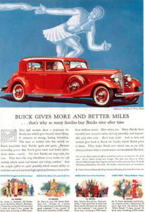 Red Buick Greek Olympic Relay Runner MORE AND BETTER MILES 1933 Magazine Ad