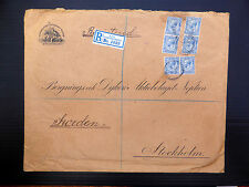 GB/SWEDEN 1921 B.P.O. Constantinople Registered Envelope to SEE BELOW FP7807
