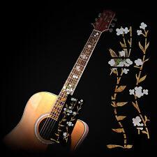 Guitar Inlay Stickers Flower and Bird Decals