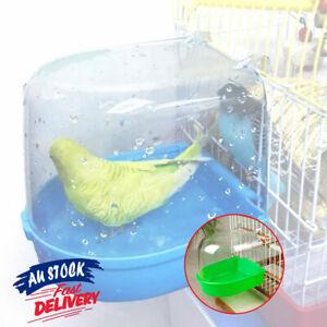 1x Box Hanging Shower Cage Accessories Parrot Bird Bathtub Standing Bath Pet