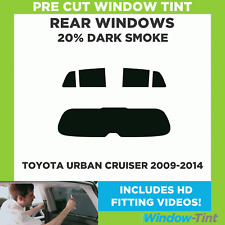 Pre Cut Window Tint - Toyota Urban Cruiser 2009-2014 - 20% Dark Rear
