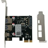 Usb 3.1 Type C Pcie Expansion Card Pci-E To 1 Type C And 2 Type A 3.0 Usb AdL7E1