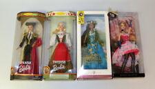 Lot of 4 New Barbie Dolls of the World Swedish, Spanish, France & Pacific Island