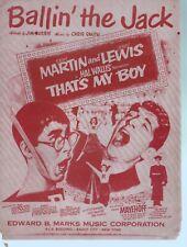 Ballin The Jack Dean Martin/Jerry Lewis in That's My Boy Sheet Music