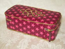 MAC Pink and Gold Starry Cosmetic Zippered Case. New.