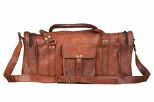 Genuine Soft Leather Large Vintage Duffle Travel Gym Weekend Overnight Bag