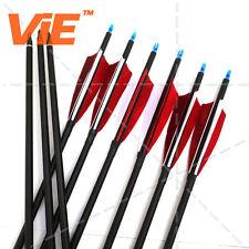 "12pcs ViE 32"" Turkeys Feathers Vane Spine 600 Carbon Arrows Hunting Screw Tip"