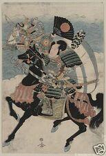 Samurai Warriors Kumagai Naozane & Taira no Atsumori Japan 7x5 inch Print
