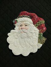 "New ListingFitz & Floyd Classics Jolly Old St. Nick Santa canape plate 9"" wall hanging"