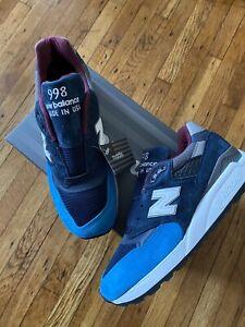 New Balance 998 Rare M998TCA BLUE GRAY Made In USA SIZE 10.5 Men