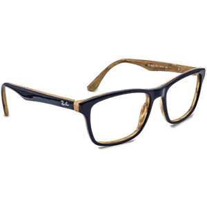Ray-Ban Eyeglasses RB 5279 5131 Blue/Light Brown Marble Square Frame 55[]18 145