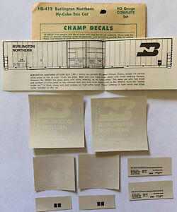 CHAMP HO DECAL - BURLINGTON NORTHERN / BN 86' HI-CUBE BOX CAR - HB-413