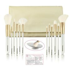 7th Avenue 12 Makeup Brushes Set with Carry Bag and Brush Cleaner Mat