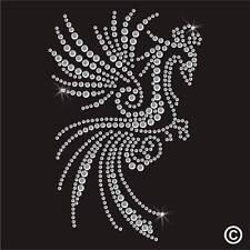 Claro De Pavo Real De Diamantes De Imitación Diamante Cristal Adorno transferencia hierro en la revisión de Adorno