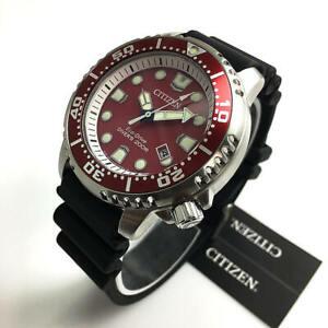 Men's Citizen Promaster Marine Diver's Solar Red Watch BN0159-15X