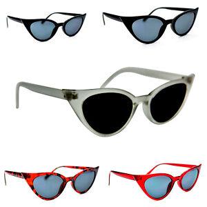 Cat Eye UV400 Sunglasses Retro1950/60s Fashion In 5 Colours & Metal Hinges SG58
